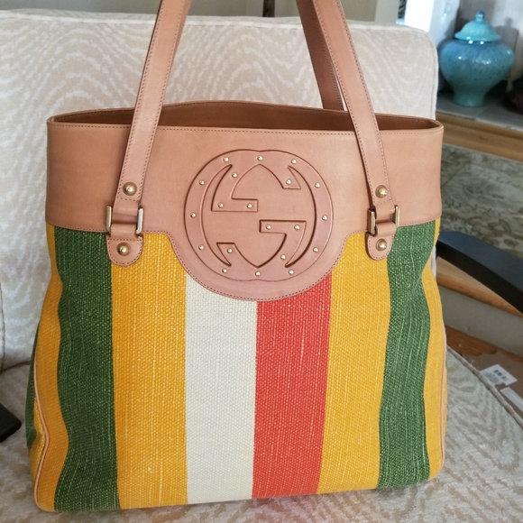 572958df Gucci Handbags - Gucci Baiadera Canvas & leather tote